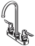Parts Diagram For Commercial Two Handle Bathroom Faucet Models 7500 Series, 7501 Series, 7502 Series